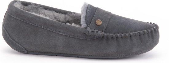 Warmbat Nowra Suede Dames Pantoffels - Dark grey - Maat 36