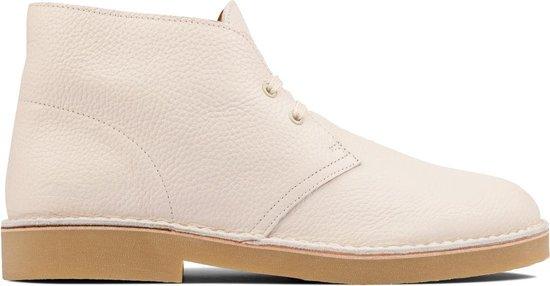 Clarks - Herenschoenen - Desert Boot 2 - G - white leather - maat 7,5