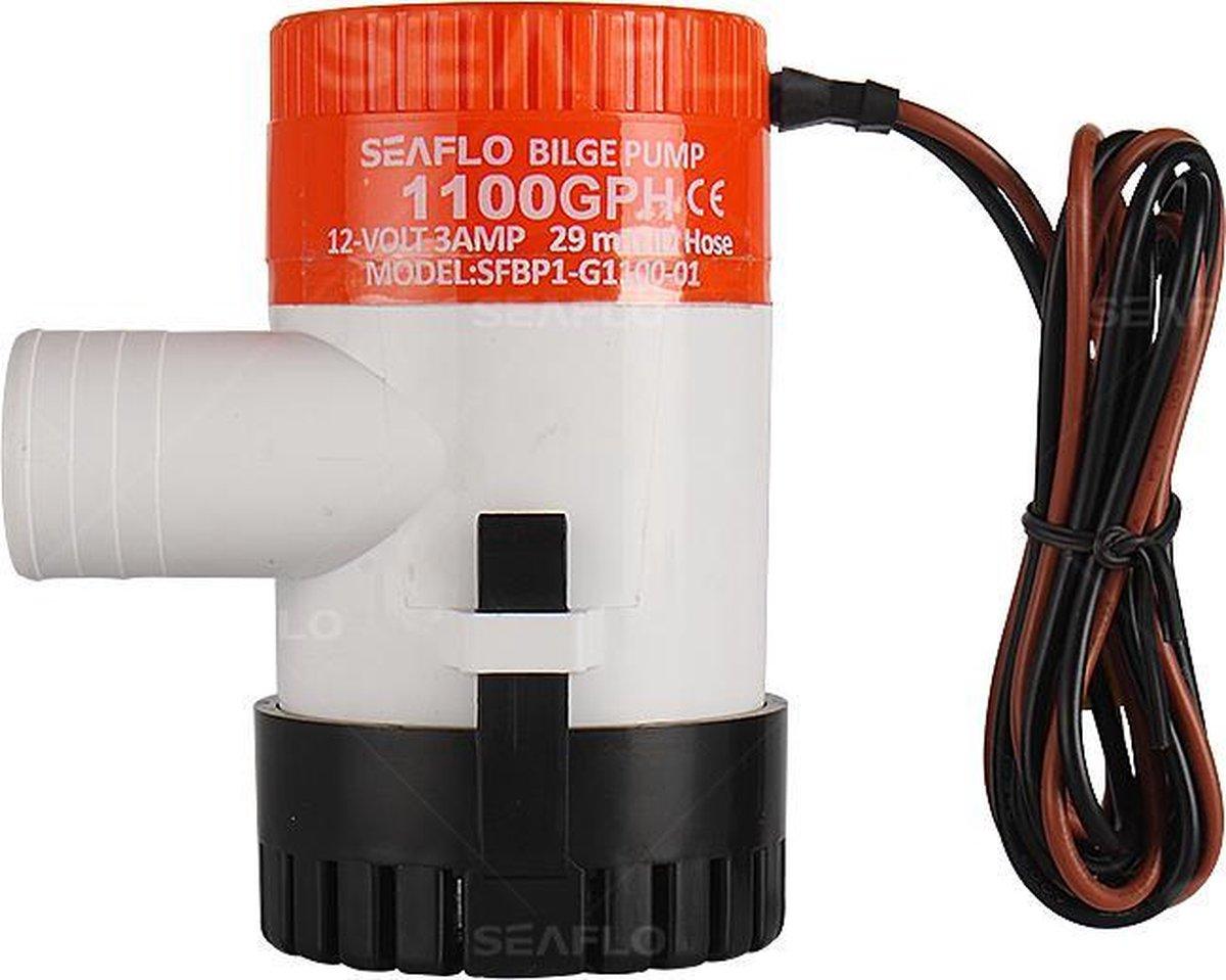 Seaflo bilgepomp 12 volt 1100GPH 4180 liter