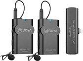 Boya 2.4 GHz Duo Lavalier Microfoon Draadloos BY-WM4 Pro-K4 voor iOS