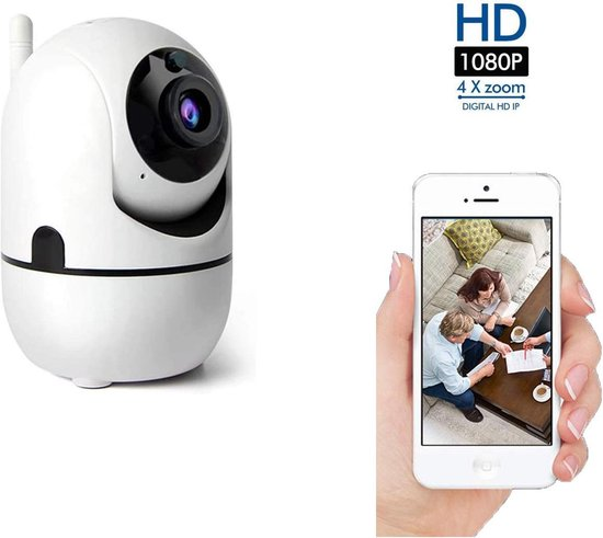 Indoor IP Camera Pro - 1080P WIFI Smart Camera - Beveiligingscamera - HD Night Vision - Bewegingsdetectie – Spraakfunctie – Binnen Camera WIFI– Slimme IP Camera - 360° Draaibaar – Fisheye – Huisdier / Baby camera - Babyfoon