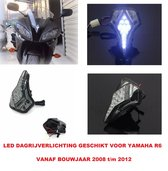 Yamaha R6 Dagrijverlichting Led Stadslicht Koplamp Smoke Glas Bj 2008 t/m 2012 Verlichting Xenon Look Motor Accessoires Day Running Lights