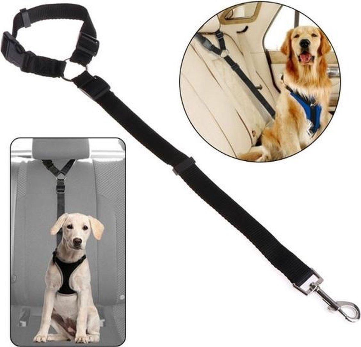 Autogordel Voor Hond - Hondengordel voor in de Auto – Verstelbare Hondengordel - Veiligheid Voor Hon