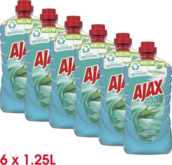 Ajax Allesreiniger Eucalyptus 6 x 1.25L - Voordeelverpakking