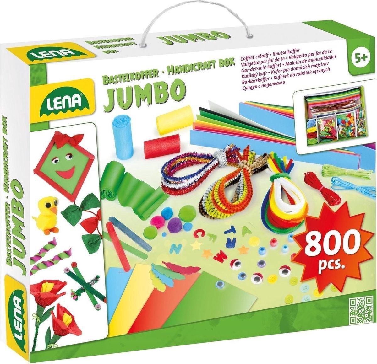 Lena - Jumbo Knutselkoffer - 800 onderdelen
