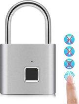 Hangslot - Vingerafdruk Slot - Fingerprint Lock - Waterbestendig - Zonder Sleutel!