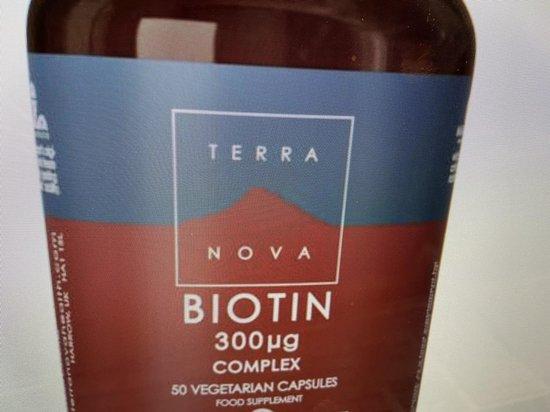 Terranova Biotin 300 mcg complex Inhoud:50 capsules