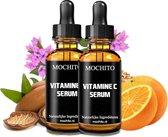 Mochito Vitamine C Serum Met Hyaluronzuur  & Argan Olie | 100% Organisch | 20% Vitamine C | Anti Rimpel | Gezicht Serum | 60 ml | 2 x 30 ml - Cadeau Voor Vrouw
