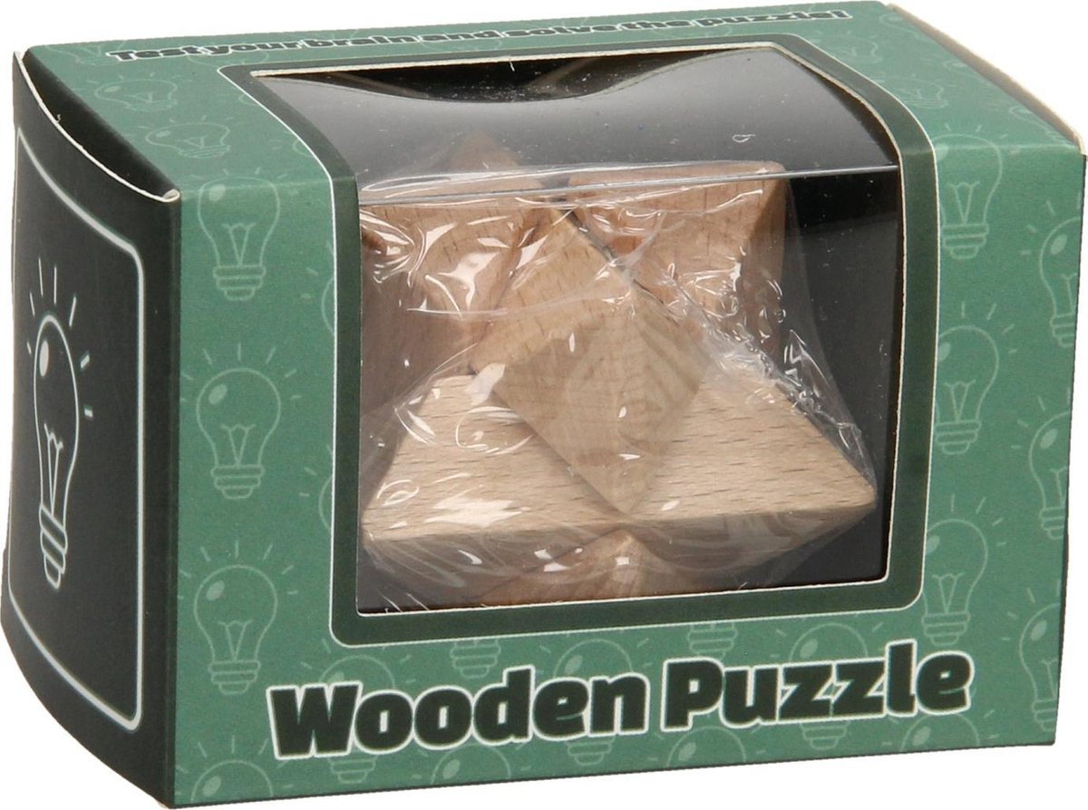 Hersenkraker Houten Puzzel - 12 stuks