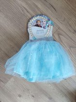 Disney Frozen 2 rok+ vlecht maat 98/104 lichtblauw.