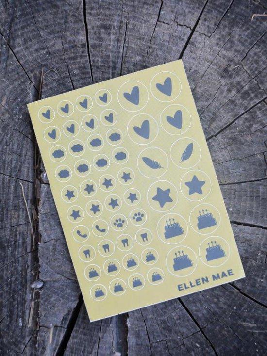 Stickervel voor planners, agenda's en kalenders