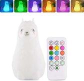 Aryos Lama Nachtlampje voor Kinderen-Incl. E-book en Afstandsbediening-Babykamer Nachtlampje-Tap Sensor-Oplaadbaar