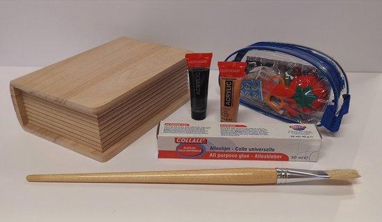 Sinterklaas surprise pakket zelf maken houten boek