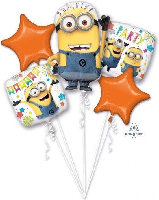 Minions Helium Ballon set 5 delig leeg