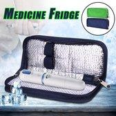 Diabetes tas - blauw - koeltas- diabetes etui - insuline spuiten - reis etui - insuline koeltas