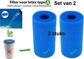 Intex Filter Type A Cartridge - Wasbaar & Herbruikbaar - Zwembad onderhoud - Intex A - Set van 2