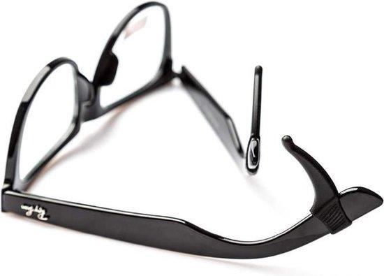 Brilhaakjes – Anti-slip Oorhaakjes – Siliconen – Bril Bescherming – Antislip Pootjes – Voor Kinderen en Volwassenen – Zwart