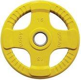 Body-Solid Gekleurde Olympische Rubber Halterschijf - Gewichten - Geel - 15 kg