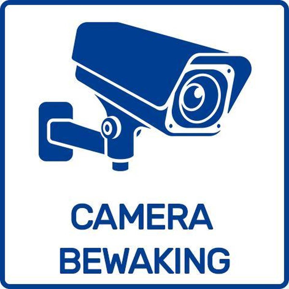 Sticker camerabewaking - 5.5x5.5 cm - binnen & buiten - 2 stuks - Camera sticker / Camerabewaking st