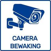 Sticker camerabewaking - 5.5x5.5 cm - binnen & buiten - 2 stuks - Camera sticker / Camerabewaking sticker