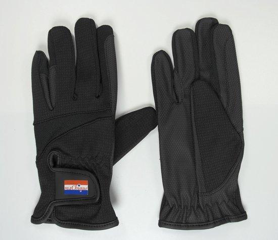 MaChique paardrijhandschoenen zwart met kunstlederen binnenzijde maat XS HT5132