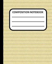 Composition Notebook: Yellow Pattern 7.5x9.25'' College Ruled 100 pages