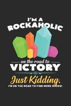 Rockaholic victory: 6x9 Minerals - grid - squared paper - notebook - notes