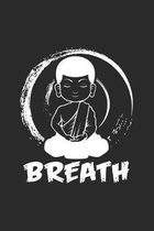 Breath: 6x9 Buddha - dotgrid - dot grid paper - notebook - notes