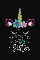Promoted To Big Sister: Unicorn Mode Daughter Notebook 6x9 Blank Lined Journal Gift