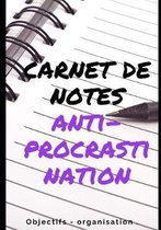 Carnet de notes anti-procrastination