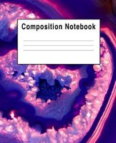 Composition Notebook: Agate Blue Rock Stone