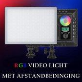 Video / fotografie licht studie LED paneel RGB met afstandbedinging en accu