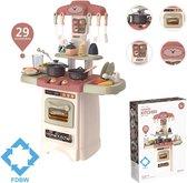 Keukentje Speelgoed  – 70x50x25 cm - Beige | Keuken Spelen | Speelgoed Kinderen - Keuken | Speelgoed Keuken – Interactief