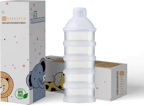 Melkpoeder Toren | Babypoeder Doseerdoosje | Doseerflesje |  Kraamcadeau | Bewaarbakjes | Dispenser