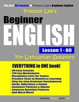Preston Lee's Beginner English Lesson 1 - 60 For Lithuanian Speakers