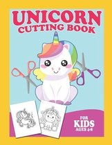 Unicorn Cutting Book For Kids Ages 4-8