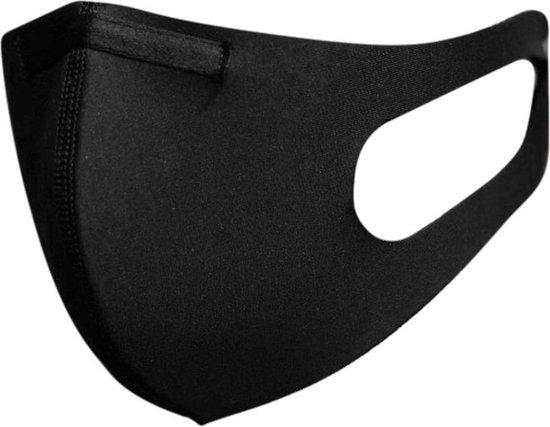 Afbeelding van Blackspade Uniseks wasbaar mondkapje volwassenen - Herbruikbaar, stretch katoen - Medium - Zwart