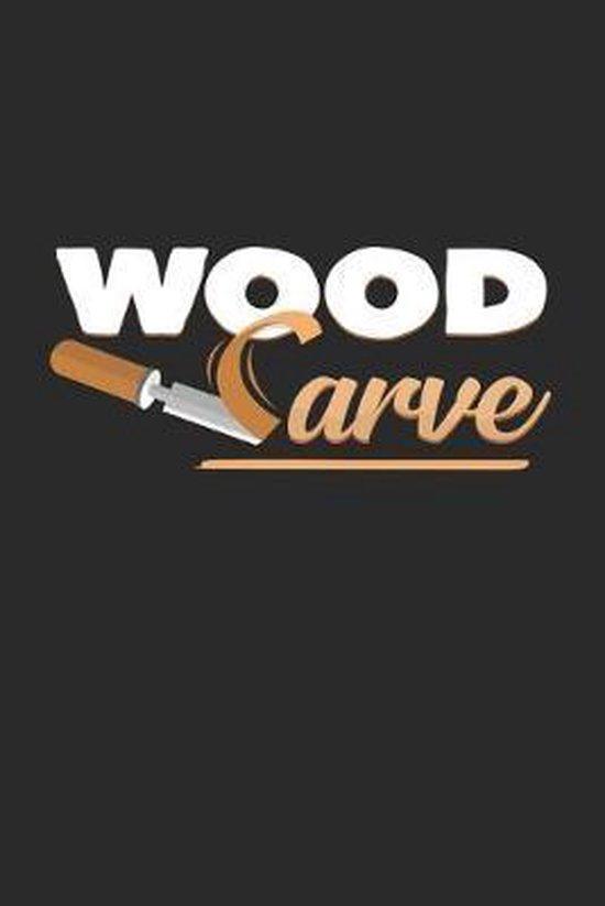 Wood carve: 6x9 Wood Carving - dotgrid - dot grid paper - notebook - notes