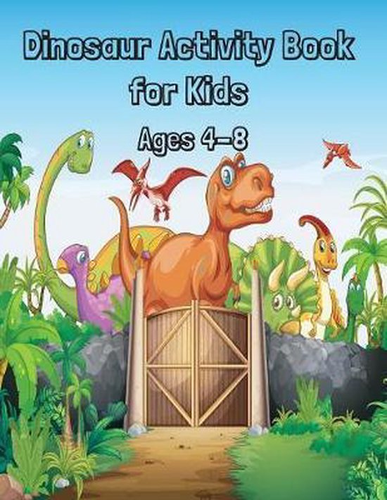Dinosaur Activity Book for Kids Ages 4- 8