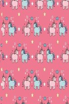 Unicorns with stars in pink: Sweet notebook for girls