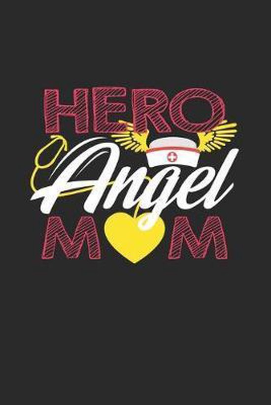 Hero Angel Mom: 6x9 Pregnant Nurse - dotgrid - dot grid paper - notebook - notes