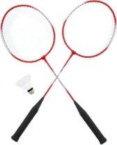 Slazenger 2 persoons Badminton Set - 2 rackets - 2 shuttles Rood
