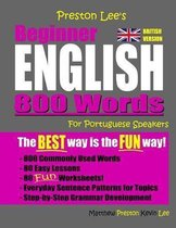 Omslag Preston Lee's Beginner English 800 Words For Portuguese Speakers (British Version)