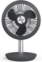Zilan - Krachtig 15 uur Stille Tafelventilator - Draadloos - Oplaadbaar - 4000 Mah - Stille modus - Kantelbaar - Compact