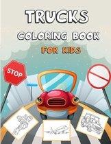 Trucks Coloring Book For Kids