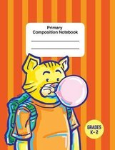 Primary Composition Notebook: Write And Draw Composition Cat Theme Notebook For Kids Grades K-2