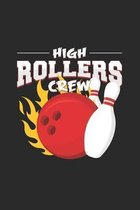 High rollers crew: 6x9 Bowling - dotgrid - dot grid paper - notebook - notes