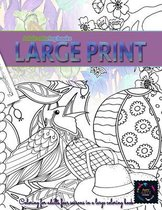 Adult coloring books Large print, coloring for adults FOUR SEASONS in a Large coloring book