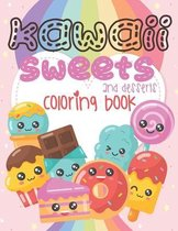 Kawaii Sweets and Desserts Coloring Book