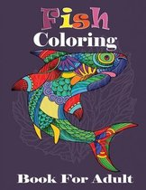 Fish Coloring Book For Adult
